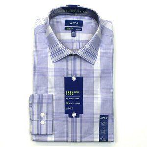 Apt. 9 Dress Shirt - Purple - M 15-15.5, 32/33